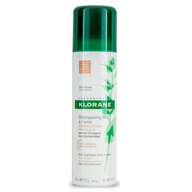 Klorane Shampooing Sec a L Ortie Brown to Dark Hair Ξηρό Shampoo με Γαλάκτωμα Τσουκνίδας & Φυσικό Χρώμα, για Λιπαρά Μαλλιά 150ml