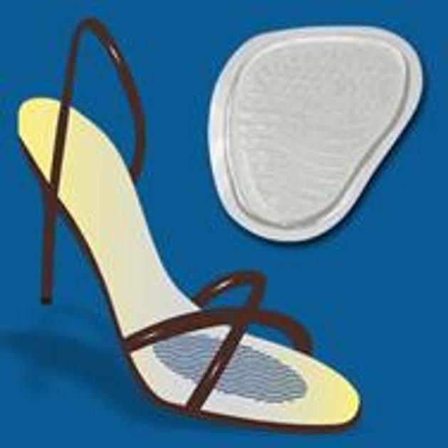 John\'s Happy Feet Μετατάρσιου Silicone One Size Διάφανο Στήριγμα Μεταταρσίου Για Ψηλοτάκουνα Παπούτσια 17247