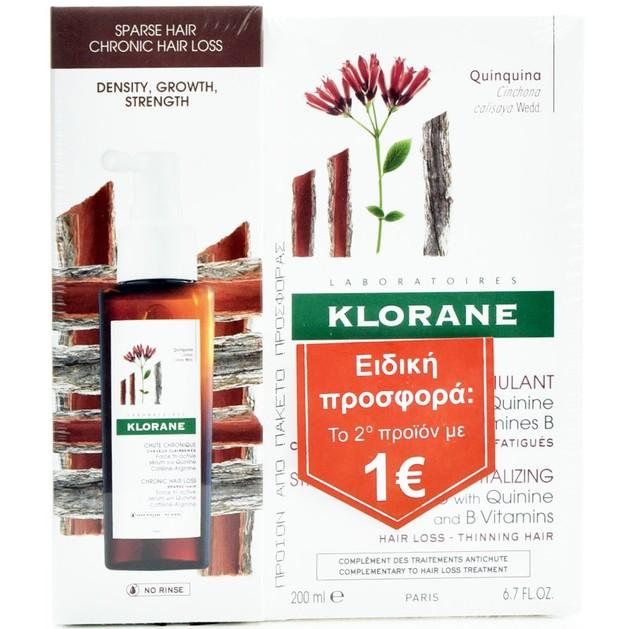 Klorane Promo Force Tri-Active Antichut Ορός Τριχόπτωσης 100ml & Shampoo Quinine Τριχόπτωση 200ml Το 2ο με 1€