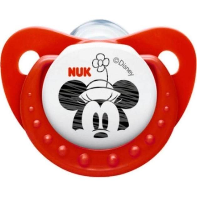 Trendline Disney Mickey Πιπίλα Σιλικόνης με Κρίκο Κόκκινη Μεγέθους 1 (0-6 Μηνών) 1τμχ - Nuk