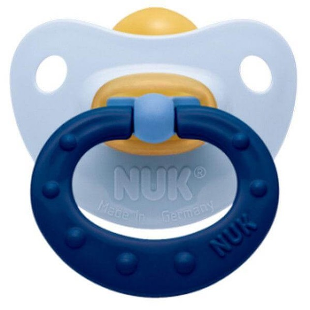 NUK Classic Soft Πιπίλα Καουτσούκ Με Κρίκο Μεγέθη 1-3