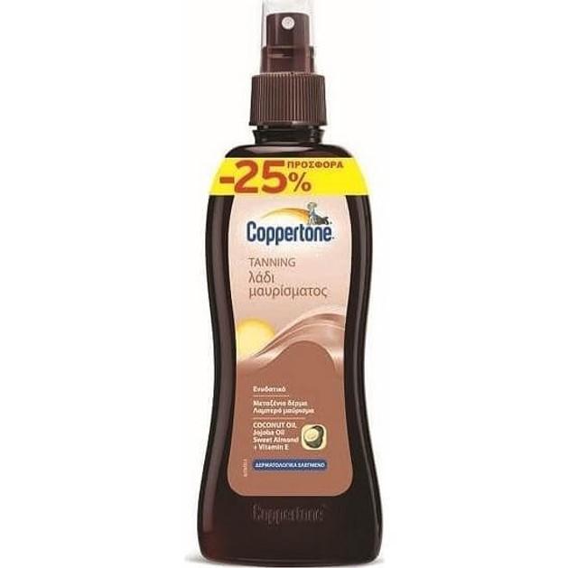 Coppertone Tanning Coconut Oil Ενυδατικό Λάδι Μαυρίσματος, Μεταξένιο Δέρμα & Λαμπερό Καρύδα 200ml