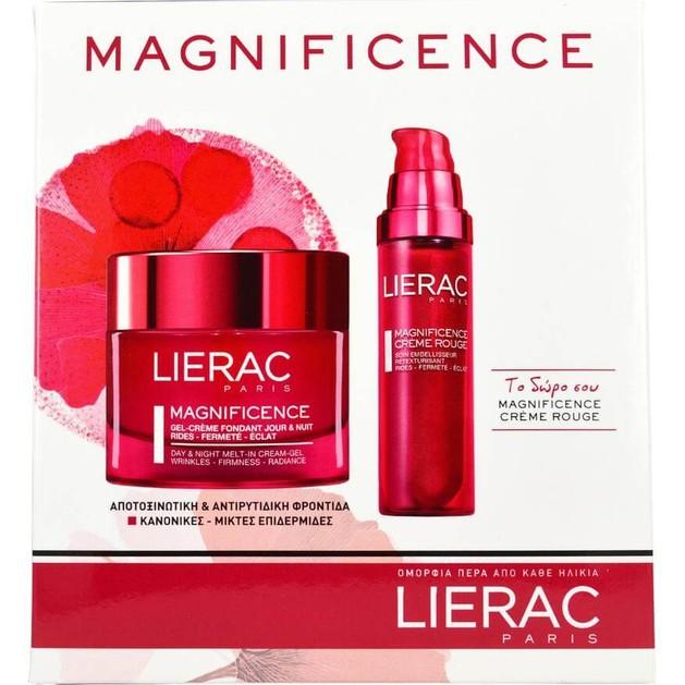 Lierac Lierac Set Magnificence Gel Creme Fondant Ημέρας & Νύχτας Κανονικές - Μικτές 50ml & Δώρο Magnificence Creme Rouge 50ml