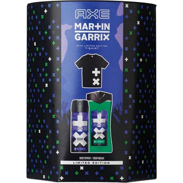 Axe Martin Garrix Limited Edition Set Ice Breaker Body & Hair Wash 250ml  & Ice Breaker Body Spray 150ml & T-Shirt
