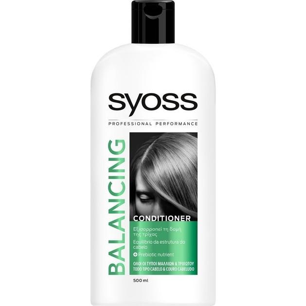 Syoss Conditioner Balancing Κρέμα Μαλλιών που Εξισορροπεί την Δομή της Τρίχας 500ml