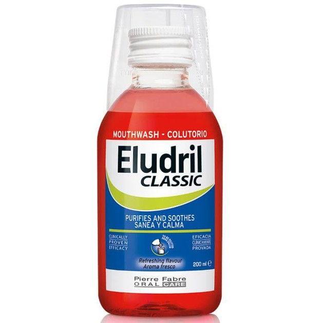 Eludril Classic Υγρό Διάλυμα για Στοματικές Πλύσεις, Εξυγιαντικό, Καταπραϋντικό