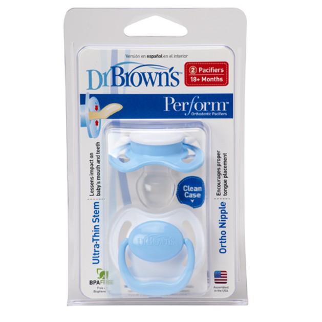 Dr. Brown\'s PreVent PV340-GB Ορθοδοντική Πιπίλα Σιλικόνης ΕΠΙΠΕΔΟ 3 Για μωρά ηλικίας από 18 μηνών και πάνω