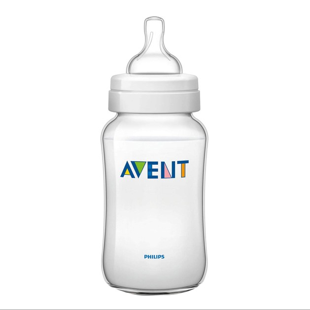 Avent Classic+ Πλαστικό Μπιμπερό 3m+ Μηνών με Πιπίλα Σιλικόνης 330ml Χωρίς BPA SCF566/17