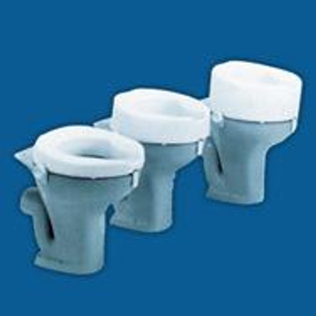 John\'s  Ashby Raised Toilet Seat Ανυψωτικό Τουαλέτας Με Στηρίγματα Λευκό  5 cm 215500