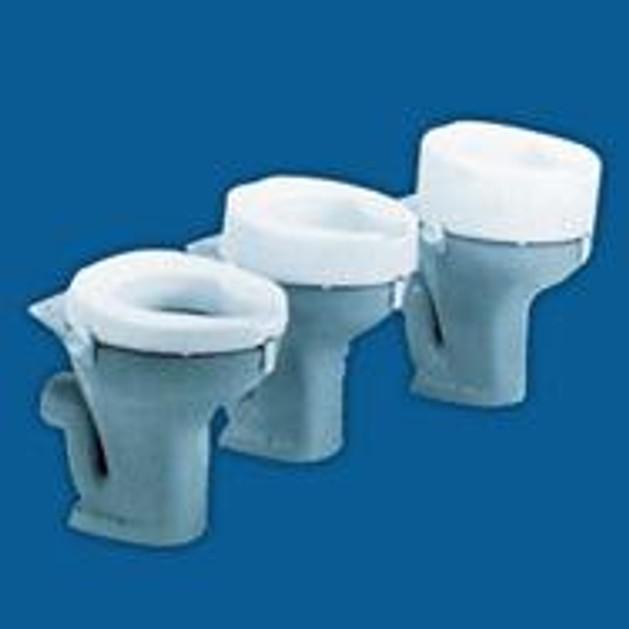 John\'s  Ashby Raised Toilet Seat Ανυψωτικό Τουαλέτας Με Στηρίγματα Λευκό10 cm 215510