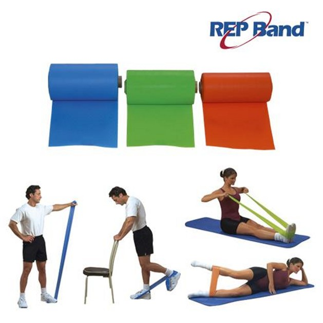 John\'s Rep Band 233031 Λάστιχα Γυμναστικής με Χρώματα Μπλε, Πράσινο, Πορτοκαλί(1,5m) 3τμχ