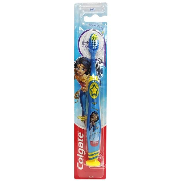 Colgate Wonder Woman Soft 6+ Years Οδοντόβουρτσα Μαλακή Σχεδιασμένη για τις Ανάγκες των Παιδιών 6 Χρονών και Άνω 1 Τεμάχιο