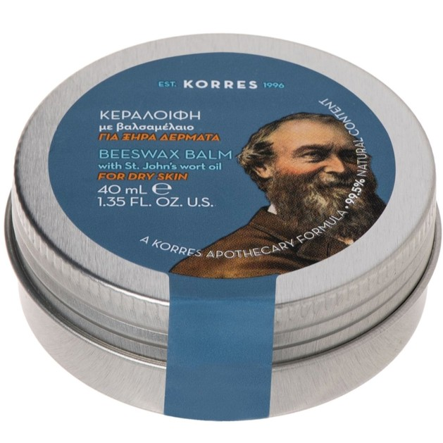 Korres Beeswax Balm with St John\'s Wort Oil Κεραλοιφή με Βαλσαμέλαιο για Ξηρά Δέρματα 40ml