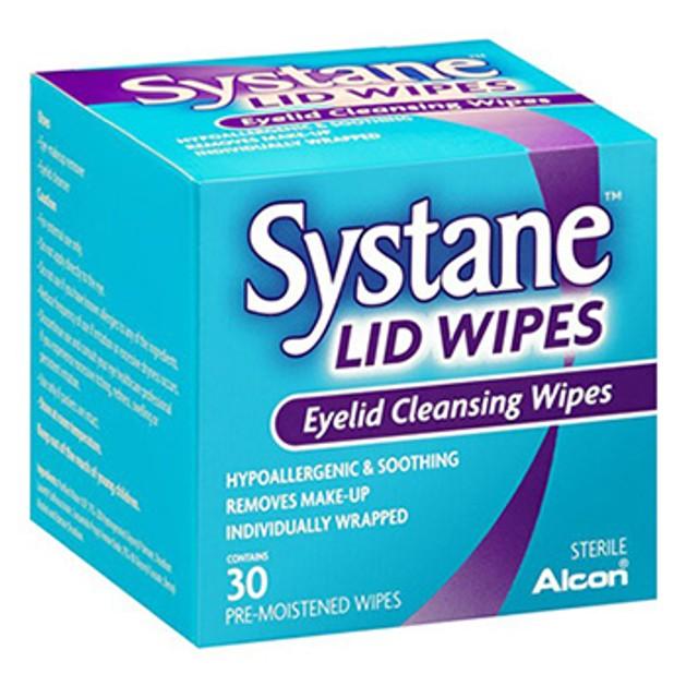 Alcon Systane Lid Wipes Μαντηλάκια Καθαρισμου των Βλεφάρων 30wipes
