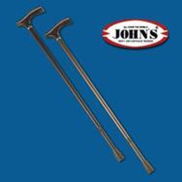 John\'s ΜΠΑΣΤΟΥΝΙ ΜΕΤ/ΚΟ ΡΥΘΜ/ΝΟ  h 77-100 cm 26111