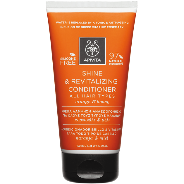 Apivita Shine & Revitalizing Conditioner For All Hair Types With Orange & Honey 150ml