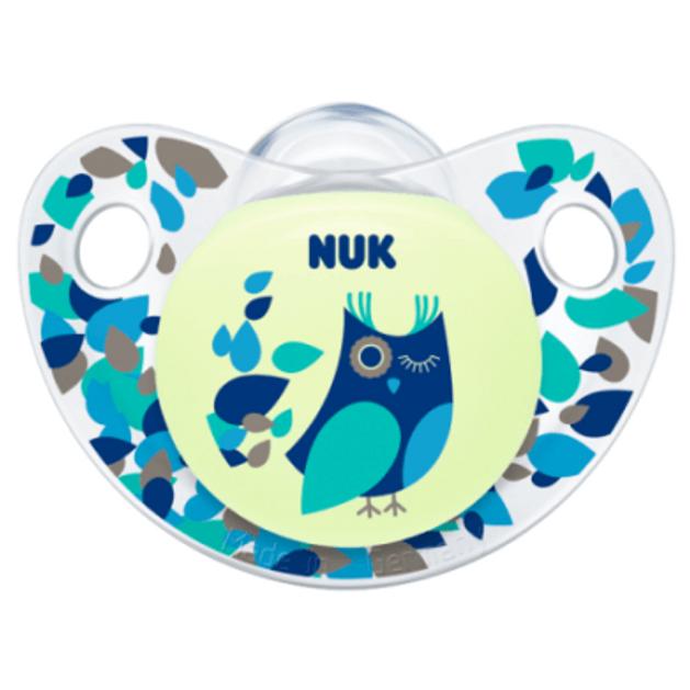 NUK Trendline Night & Day σιλικόνης χωρίς κρίκο, μεγέθη 1-3