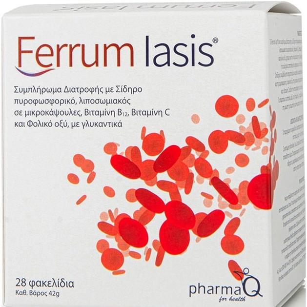 PharmaQ Ferrum Iasis Συμπλήρωμα Διατροφής Σιδήρου, 28 φακελάκια