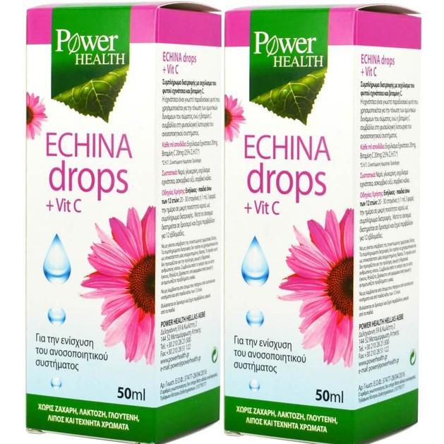 Power Health Πακέτο Προσφοράς Echina Drops Vitamin C 2x50ml