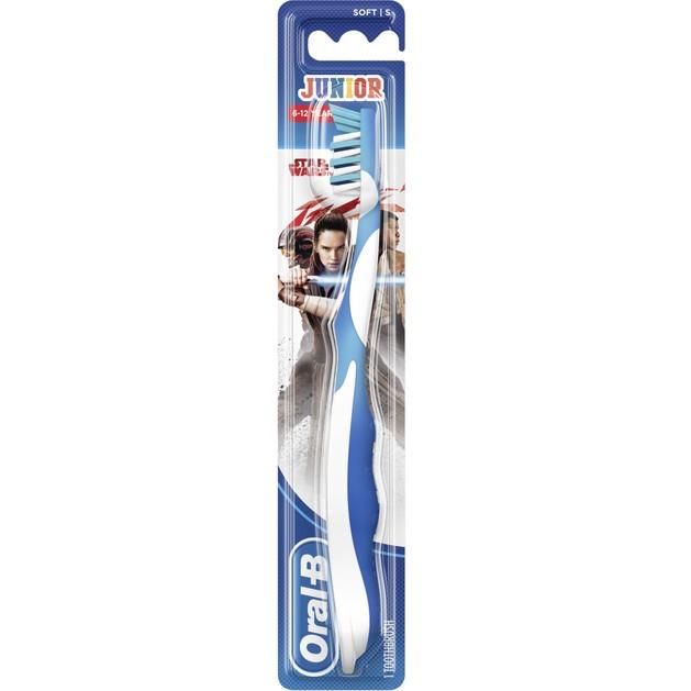 Oral-B Junior Star Wars Soft Παιδική Χειροκίνητη Μαλακή Οδοντόβουρτσα από 6-12 Ετών