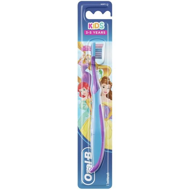 Oral-B Kids Princess Soft Παιδική Χειροκίνητη Μαλακή Οδοντόβουρτσα από 3-5 Ετών