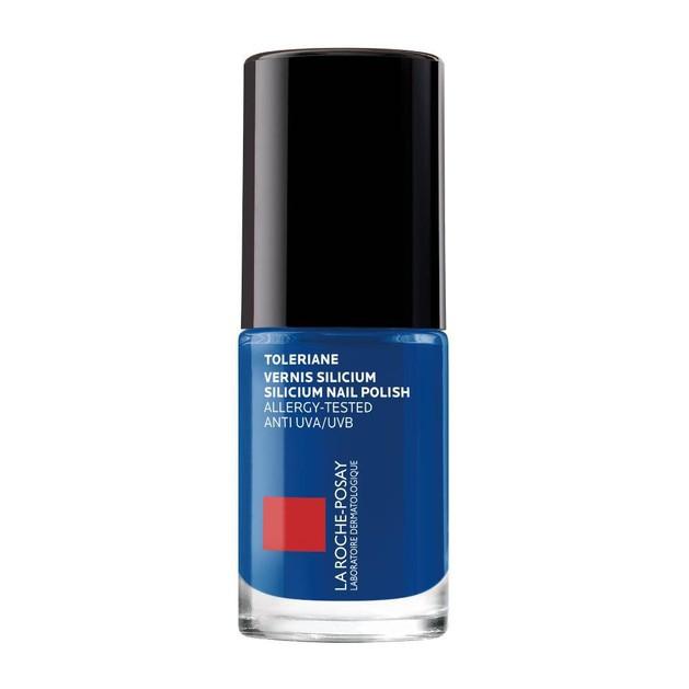 La Roche-Posay Toleriane Vernis Silicium Nail Polish Ειδικά Σχεδιασμένο Βερνίκι για Εύθραυστα & Ευαίσθητα Νύχια Dark Blue 6ml
