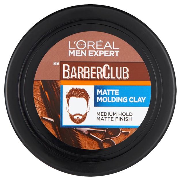 L\'oreal Paris Men Expert BarberClub Messy Hair Molding Clay Μεσαίο Κράτημα & Ματ Τελείωμα για Μούσια & Μαλλιά 75ml