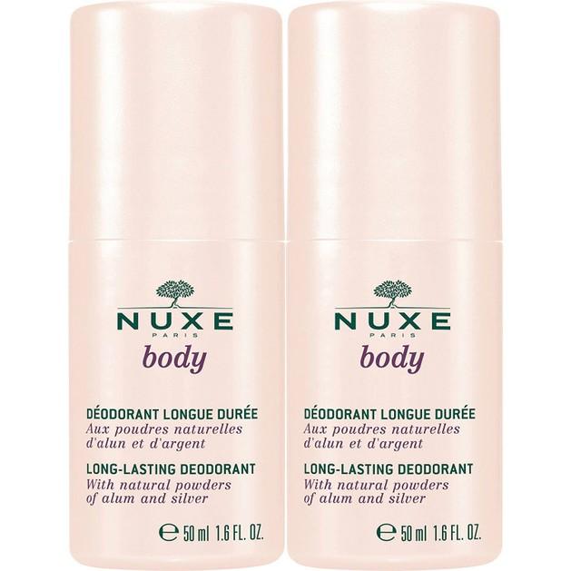 Nuxe Πακέτο Προσφοράς Deodorant Long Lasting Αποσμητικό Μεγάλης Διάρκειας Χωρίς Οινόπνευμα 2 x 50ml 1+1 Δώρο