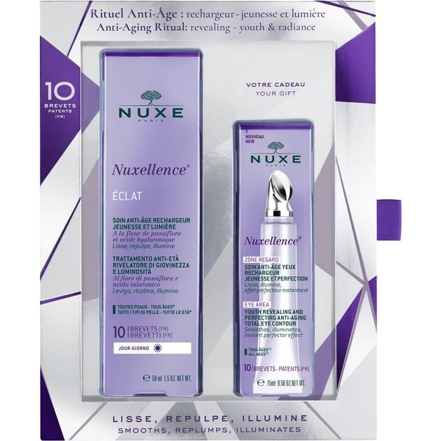 Nuxe Πακέτο Προσφοράς Nuxellence Eclat Αντιγηραντική Κρέμα Ημέρας 50ml & Δώρο Nuxellence Zone Regarde 15ml