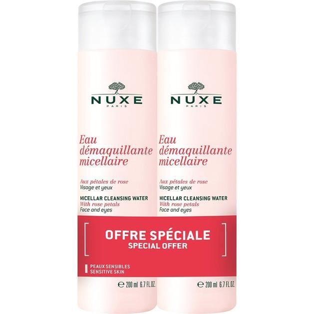 Nuxe Eau Demaquillante Micellaire Καθαριστικό Διάλυμα για Πρόσωπο Μάτια & Χείλη 200ml 1+1Δώρο