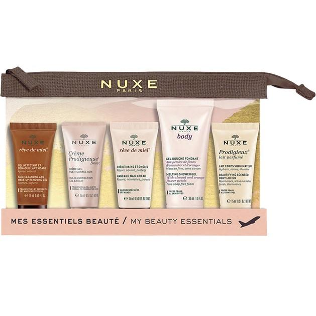 Nuxe My Beauty Essentials Travel KitΣετ Ταξιδίου Με Αδιάβροχο Νεσεσέρ & 5 Travel Sizes Προϊόντα