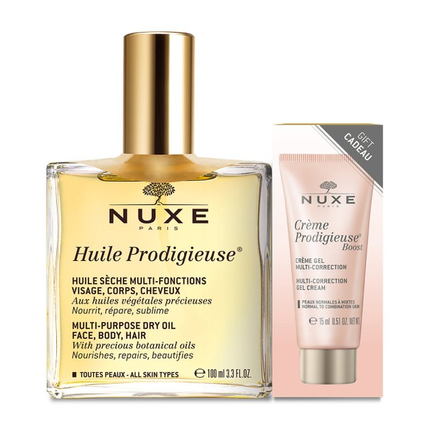Nuxe Promo Huile Prodigieuse Ξηρό Λάδι για Πρόσωπο-Σώμα-Μαλλιά 100ml &Δώρο Prodigieuse Boost Day Gel Cream Multi-Correction 15ml