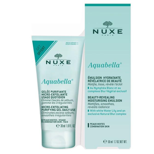 Nuxe Promo Aquabella Beauty Revealing Moisturising Emulsion 50ml & Δώρο Aquabella Micro-Exfoliating Purifying Gel Daily Use 30ml