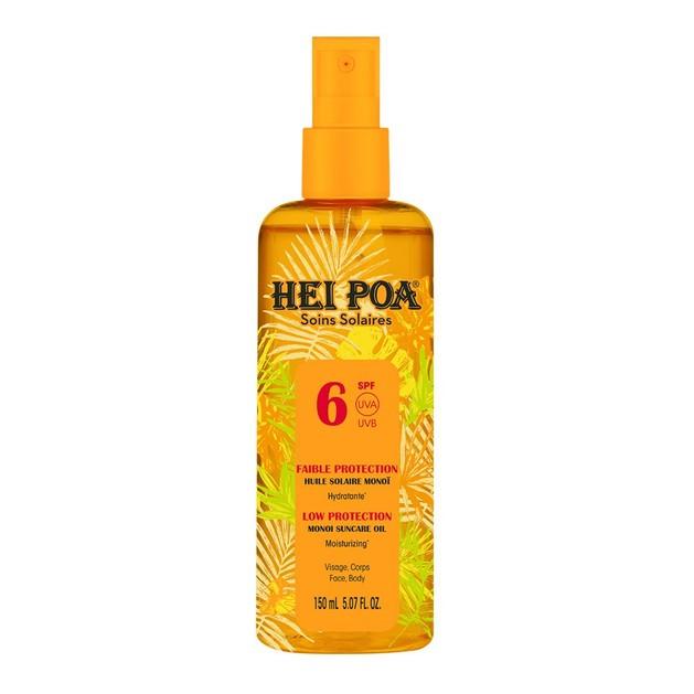 Hei Poa Soins Solaire Monoi Dry Oil Spf6 Tiare Spray 150ml