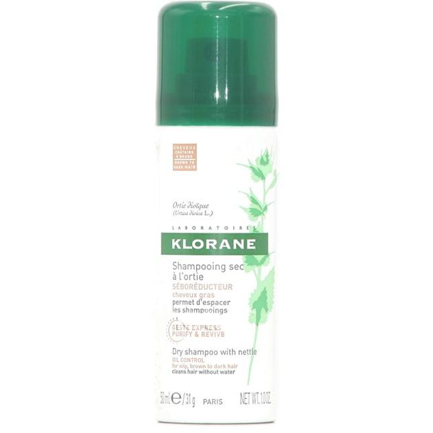 Klorane Shampooing Sec a l\'Ortie Brown to Dark Hair Ξηρό Shampoo με Γαλάκτωμα Τσουκνίδας & Φυσικό Χρώμα, για Λιπαρά Μαλλιά 50ml