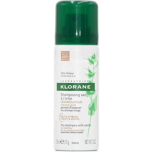 Δώρο Klorane Shampooing Sec a l\'Ortie Ξηρό Shampoo με Γαλάκτωμα Τσουκνίδας & Φυσικό Χρώμα, για Λιπαρά Μαλλιά 50ml