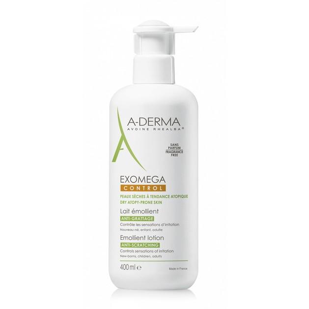 A-Derma Exomega Control Lait Emollient Lotion Μαλακτικό Γαλάκτωμα Προσώπου & Σώματος για Ατοπικό ή Πολύ Ξηρό Δέρμα 400ml