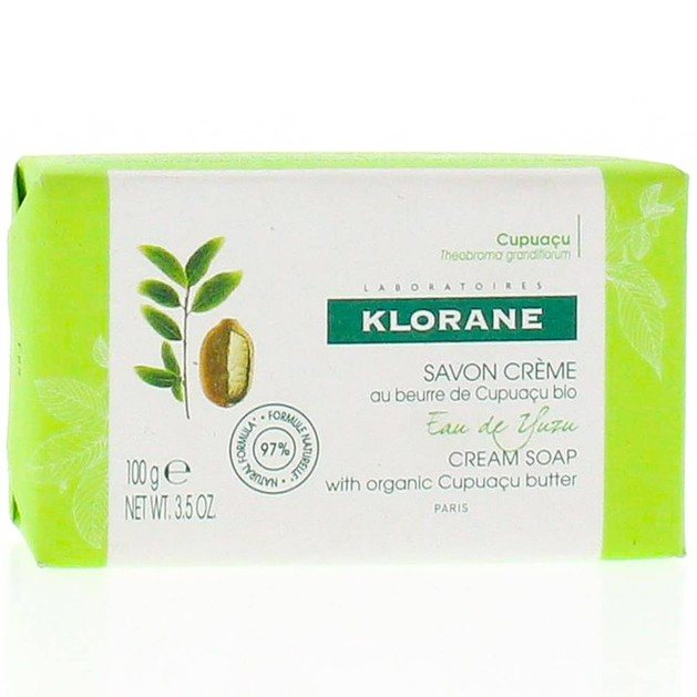 Klorane Nourishing Body Cream Soap with Organic Cupuacu Butter & Yuzu Infusion Κρεμώδες Σαπούνι με Άρωμα Νερού Yuzu 100gr