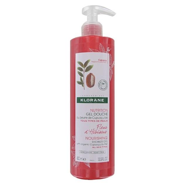 Klorane Nourishing Shower Gel With Organic Cupuacu Butter With Hibiscus Flower Απαλό Αφρόλουτρο με Άνθος Ιβίσκου 400ml