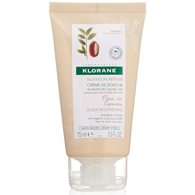 Klorane Travel Size Ultra Nourishing Shower Cream with Organic Cupuacu Butter Θρεπτικό Κρεμοντούς για Πολύ Ξηρές Επιδερμίδες 75m