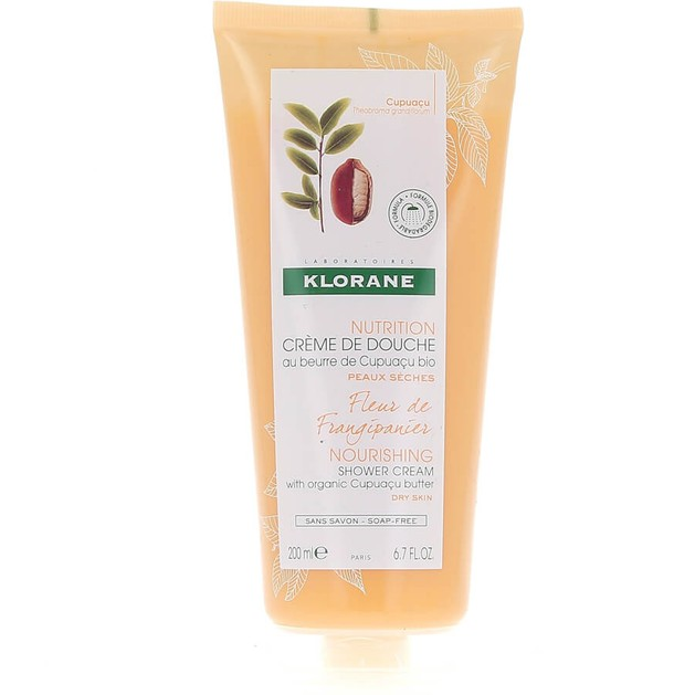Klorane Nourishing Shower Gel with Organic Cupuacu Butter & Frangipani Flower Απαλό Αφρόλουτρο με Άρωμα Ανθέων Πλουμέριας 200ml
