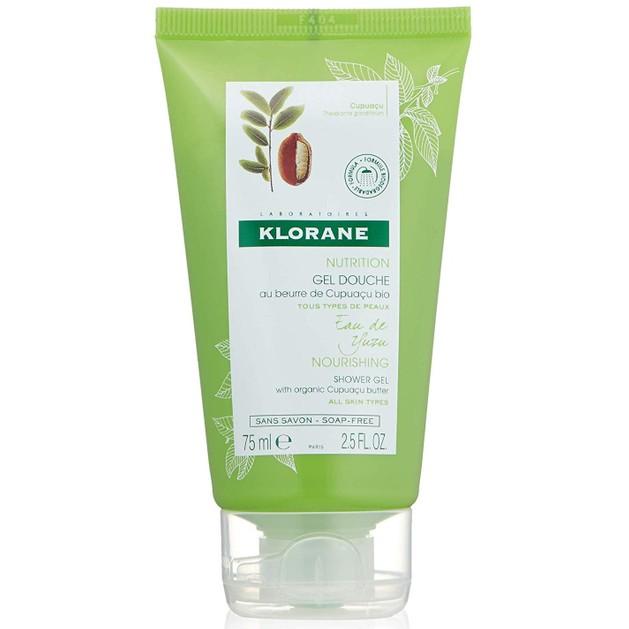 Klorane Travel Size Nourishing Shower Gel with Organic Cupuacu Butter & Yuzu Infusion Απαλό Αφρόλουτρο με Νερό Yuzu 75ml
