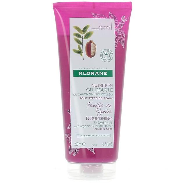 Klorane Nourishing Shower Gel with Organic Cupuacu Butter & Fig Leaf Απαλό Αφρόλουτρο με Εκχύλισμα Φύλλου Συκιάς 200ml
