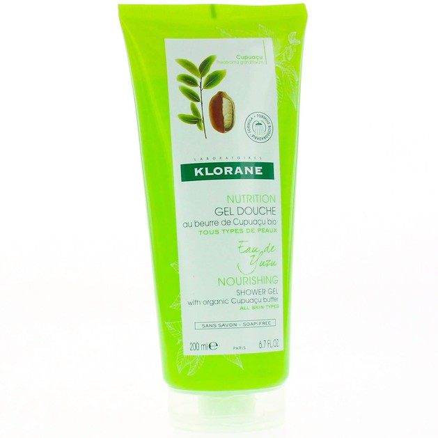 Klorane Nourishing Shower Gel with Organic Cupuacu Butter & Yuzu Infusion Απαλό Αφρόλουτρο με Νερό Yuzu 200ml