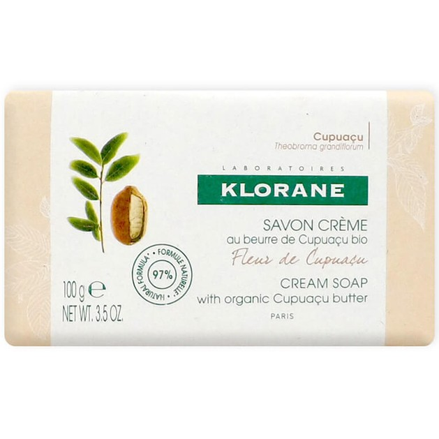 Klorane Nourishing Body Cream Soap with Organic Cupuacu Butter & Cupuacu Flower Κρεμώδες Σαπούνι με Άρωμα Άνθος Cupuacu 100ml