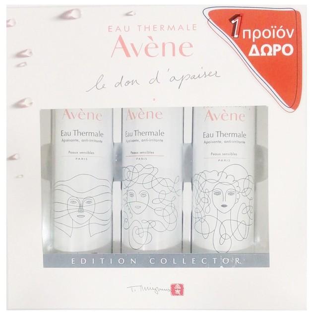 Avene Collector Eau Thermale Spring Water Soothing & Anti-Irritating Ιαματικό Καταπραϋντικό Νερό Κατά των Ερεθισμών 3x50ml