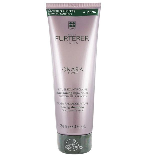 Rene Furterer Limited Edition Okara Silver Tonic Shampoo Σαμπουάν Κατά του Κιτρινίσματος των Μαλλιών 250ml