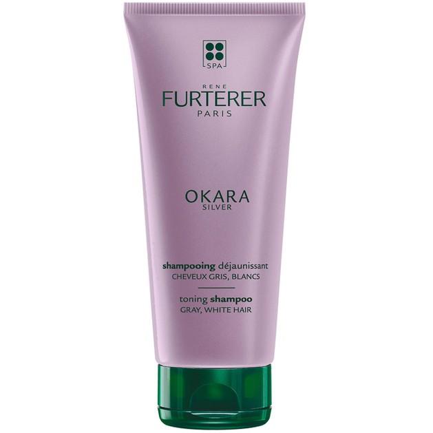 Rene Furterer Okara Silver Toning Shampoo Σαμπουάν Κατά του Κιτρινίσματος των Γκρίζων, Λευκών, Ξανθών Πλατινέ Μαλλιών 200ml