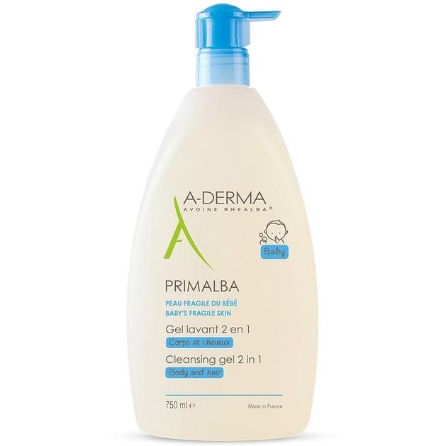 A-Derma Primalba Baby Cleansing Gel 2 in 1 Body & Hair Απαλό Καθαριστικό Gel για Σώμα και Μαλλιά 750ml