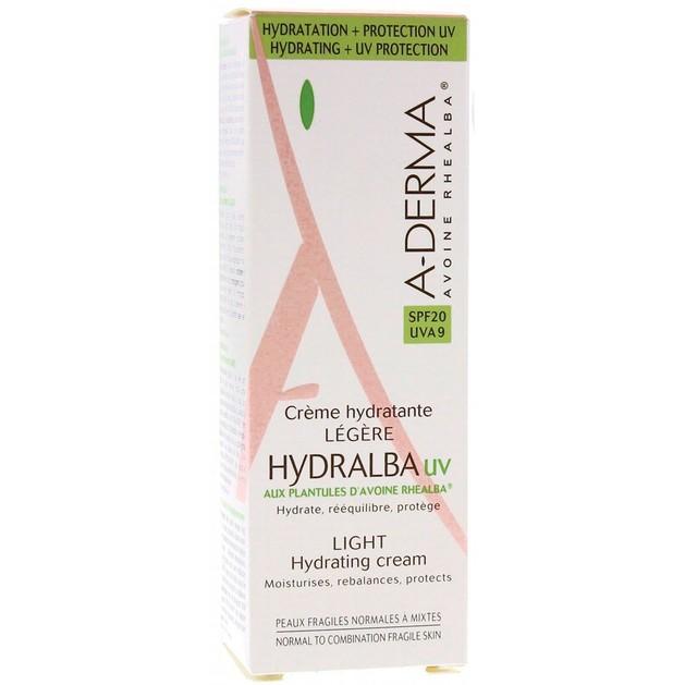 A-Derma Hydralba Hydratante UV Legere Cream Spf20 40ml Promo -20%